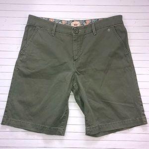 Levi's Tab Twill Cotton Bermuda Shorts Green 12